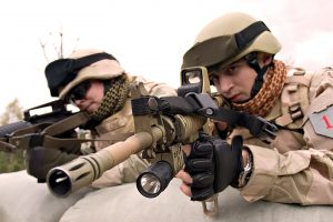 Army Soldier With Sniper Rifle Photo
