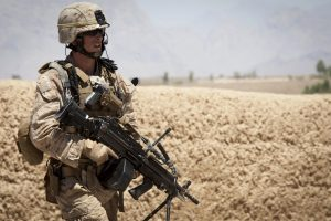 Australian Army Soldier With High