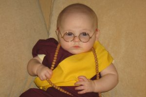 Cute Little Baby With Goggles HD Wallpaper