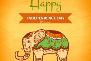HD Photo Background of Happy Independence Day India