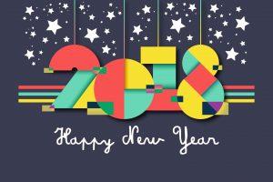 HD Wallpaper of 2018 Happy New Year