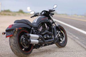 Nice Bike Harley Davidson Park Beside the Road HD Photo