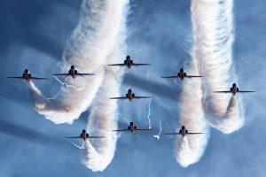 Nine Fighter Plane In Sky