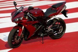 Super Yamaha R1 Red Bike HD Wallpaper
