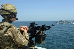 USA Navy Seal Soldier in Ship