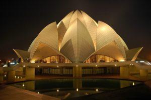 Lotus Temple at Night