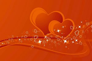 Two Coffee Color Heart Pic