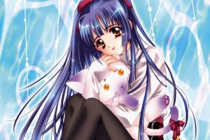 Anime Girls Download HD Wallpaper For Desktop Sitting Full HD