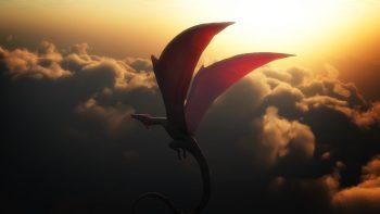 Dragons Sky Clouds Flight Wings Dragon