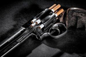 Pistol Revolver Colt Drums Tobacco Cigarette Filters Arm Trigger Barrel Muzzle