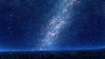 Sky Mks Trees Night Stars Art