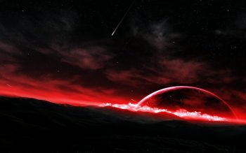 Space Fantasy Planets Sky Stars Landscapes