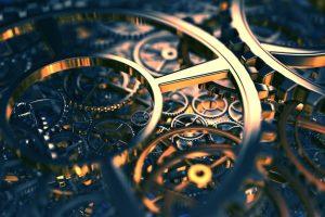 Steampunk Mechanical Gears Reflection