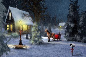 Merry Christmas Ice Falling