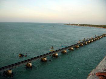 A Long and Beautiful Train Bridge of Rameshwaram Wallpaper