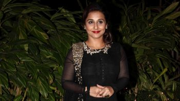 Actress Vidya Balan in Black Dress Photo