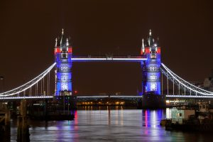 Amazing Night Look of Tower Bridge in United Kingdom