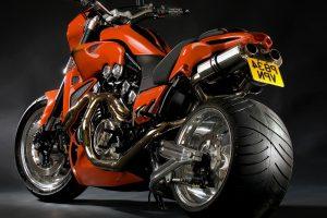Amazing Orange Sport Bike HD Wallpaper