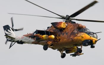 Army Helicopter in Eagle Theme HD Wallpaper