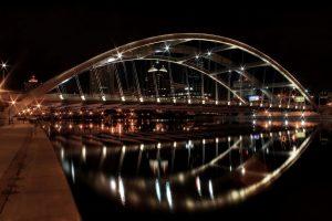 Beautiful Bridge on Night View Wallpaper