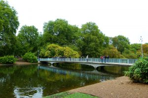 Beautiful Walking Bridge in St James Park England