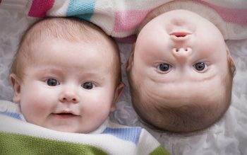 Beautiful and Cute Twin Baby HD Photo