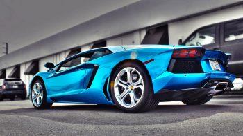 Blue Lamborghini Car HD Desktop Photo