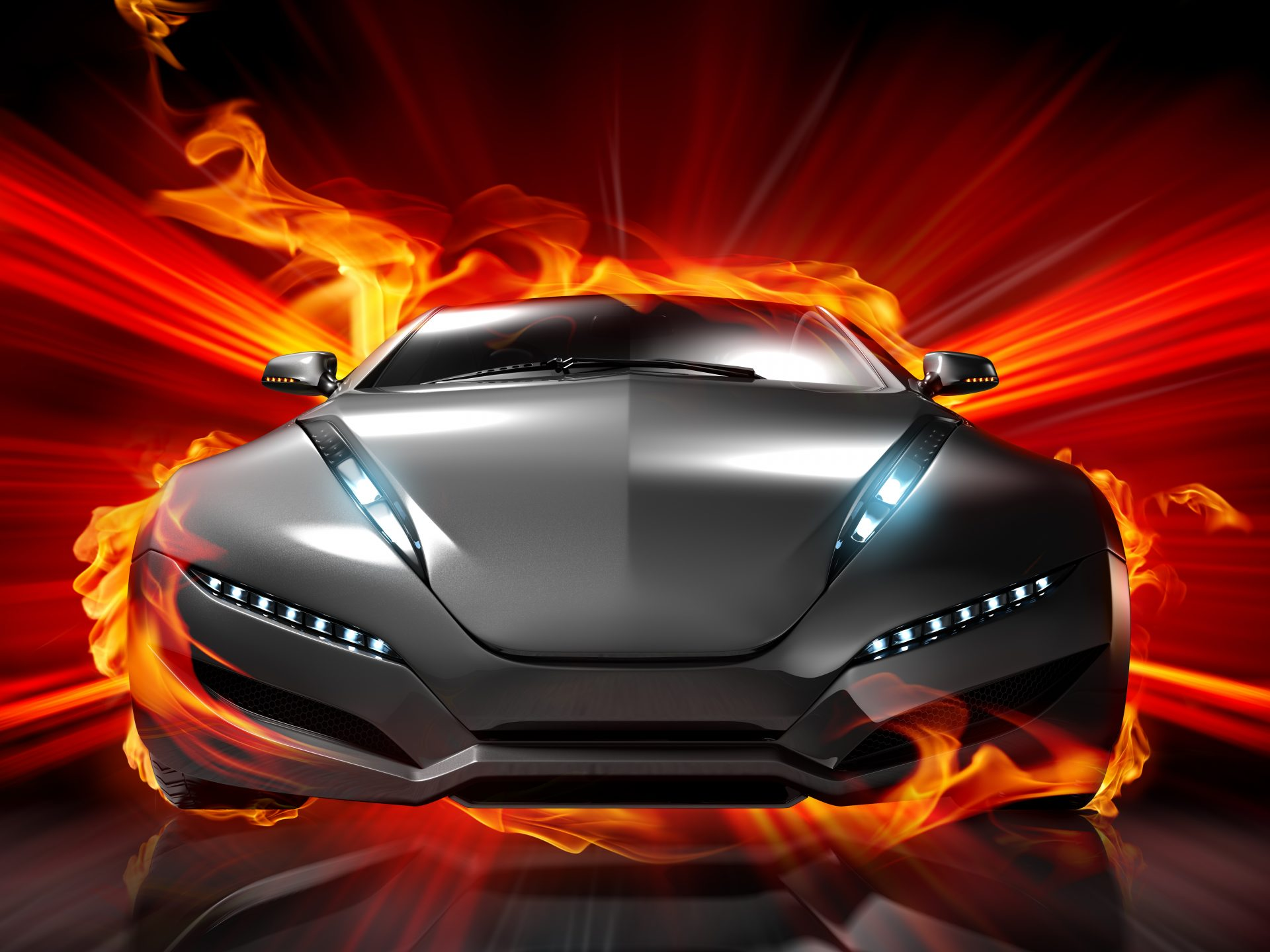 Car On Fire - Download hd wallpapers