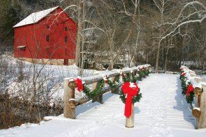 Christmas Ice Falling