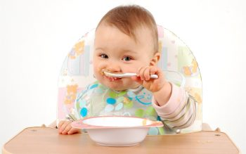 Cute Baby Eating HD Wallpaper