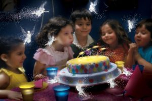Cute Children in Birthday Party HD Wallpaper