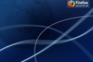 Firefox Blue Background with Tagline