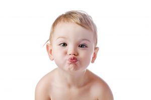 Flying Kiss Given By Cute Baby Photo