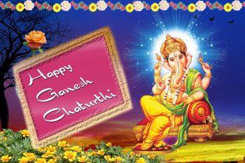 Happy Ganesh Chaturthi Greeting HD Indian God Photo