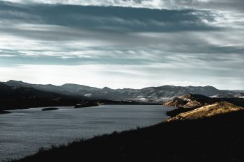 Hill Lake Water Cloud Nature