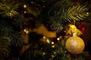 Merry Christmas Ball Decoration Image