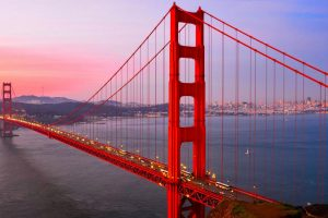 Popular Golden Gate Bridge in San Francisco California
