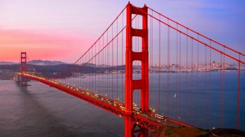 Popular Golden Gate Bridge in San Francisco California