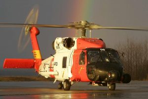 Red and White Big Helicopter High Quality