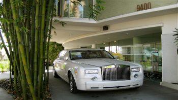 Rolls Royce Car Park Outside