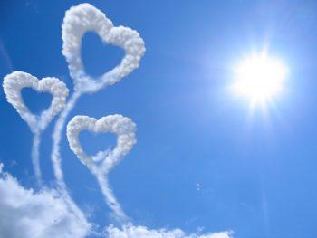 Romantic Heart In Cloud
