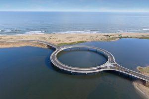 Round Circle Bridge on River