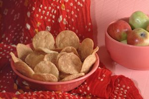 Small Papdi Puri Snack Breakfast Food Dish Photo