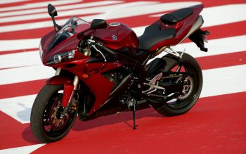 Super Yamaha R1 Red Bike HD Wallpaper