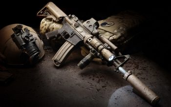 Army Rifle with Silencer