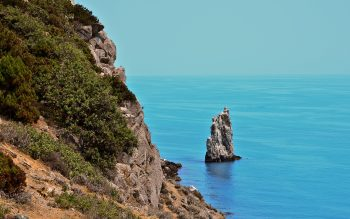 Awesome Nature Photo with Blue Sea