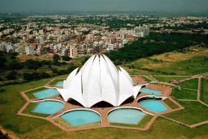 Beautiful Lotus Temple in Delhi India HD