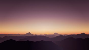 Calm Sunset Mountains Photo
