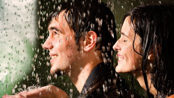 Couple on Rain Monsoon Season Photo