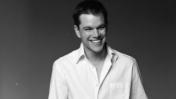 Dasing Look of Matt Damon Popular American Film Actor With Smile